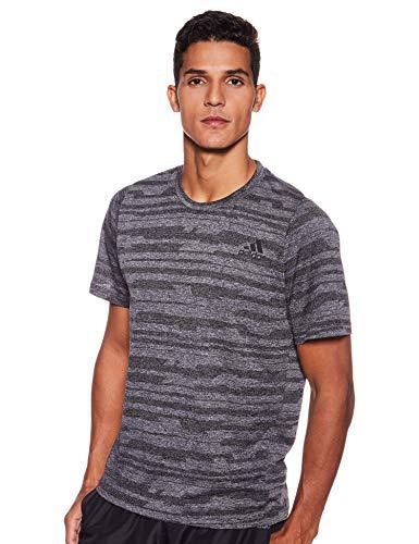 adidas Herren FreeLift_TEC A EN HEA T-Shirt, Black, L