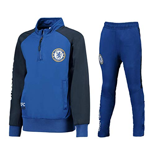 Chelsea F.C. Trainingsanzug - Jacke & Hose - Original Mit Offizieller Lizenz Tracksuit Trainingshose (M MEDIUM)