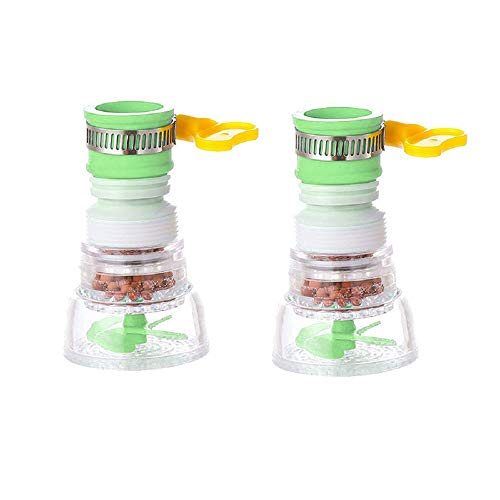 Ninonly Faucet A Prueba de Salpicaduras 2 Piezas Filtro de Agua para Grifo, Utilizado Para Purificar Agua, Filtro de Agua del Grifo Telescópico, Grifo Giratorio De 360 °(Verde)