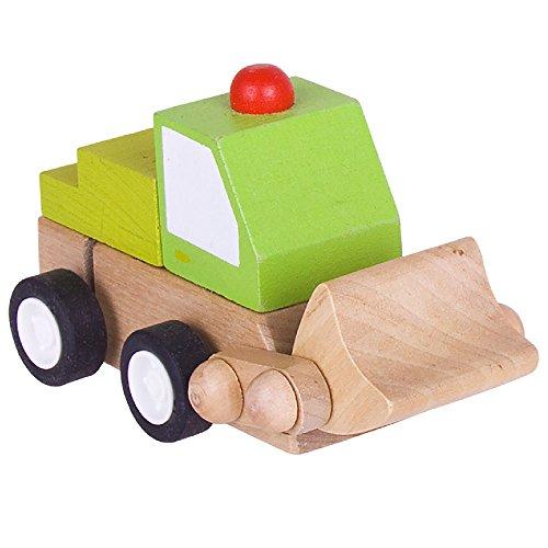 Bigjigs Toys Véhicule à remonter (chargeuse)