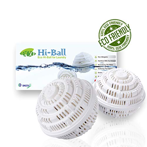 Eco Hi-ball laundry washing ball, Detergent free, Ceramic washing for sensitive skins and babies, eco-friendly antibacterial with official test report, baby detergente substitute