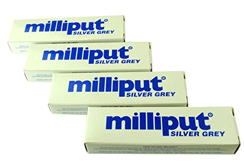 4 x gris Milliput Masilla epoxi. Escultura, modelaje, cerámica, porcelana. (x1017c) fosforito