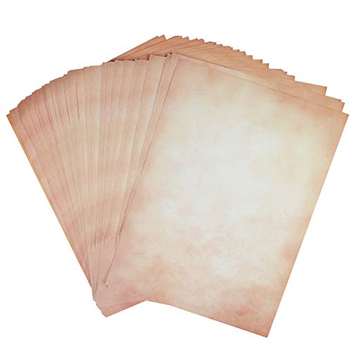 YOTINO 100 Sheet Stationery Paper, Old Fashion Aged Classic Vintage Antique Design, Double Sided, Perfect for Printing, Copying, Crafting, Tickets, Certificate, Invitations(8.5 x 11 Inches )