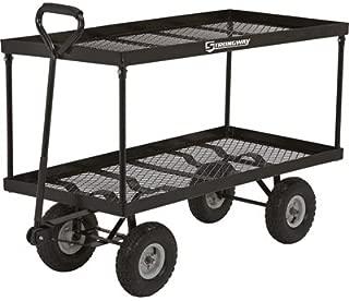 Strongway Steel Double Deck Garden Wagon - 700-Lb. Capacity, Twin 48in.L x 24in.W Decks