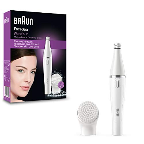 Braun Face 810 - Depiladora facial con cepillo limpiador facial, color blanco