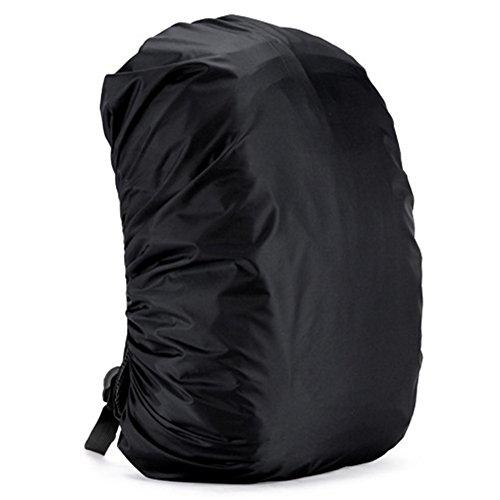 DishyKooker Zantec Housse de protection pour sac à dos de pluie réglable étanche à la poussière portable Ultralight Sac à bandoulière Housse de protection contre la pluie Protection pour extérieur, camping, randonnée, noir 45 l