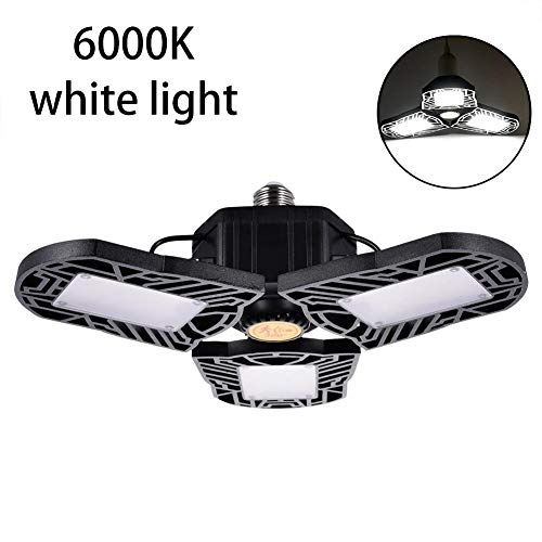 awhao-123 80W/8000LM LED Floodlight, High Bay Light, Motion Activated Light with Microwave Motion Sensor, Garage Lamp Led, Industrial Ceiling Light, Adjustable Three Light,3000K Warm Pleasant