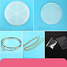 Round Shaker Clutch Bag Silicone Mold with Findings   Fancy Circle Clear Handbag DIY   Kawaii Resin Craft Supplies