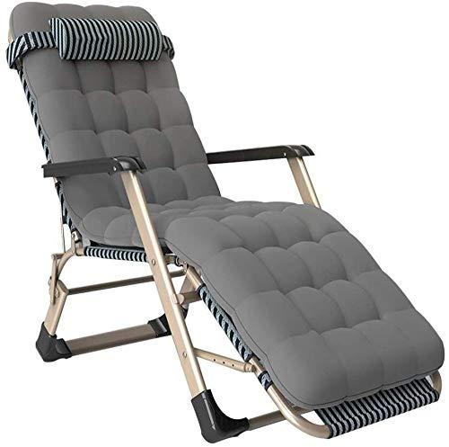 Home Outdoor / Terraza reclinable Sillas de cubierta ajustables Tumbonas para el sol Sillas de gravedad cero silla de jardín reclinable plegable para piscina de patio