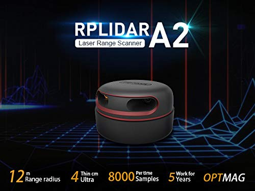 seeed studio RPLiDAR A2M8 360 Degree 2D Laser Range Scanner Kit, 8000 Times Sample Rate and 12 Meters Distance High-Speed RPVision 2.0 Range Engine Radar Sensor Module for Intelligent Obstacle/Robot