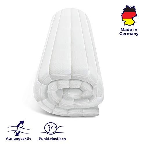 Mister Sandman orthopädischer Kaltschaumtopper für ergonomisches Liegen – punktelastische und atmungsaktive Matratzenauflage für alle Matratzenarten (120 x 190 cm, Doppeltuchbezug)