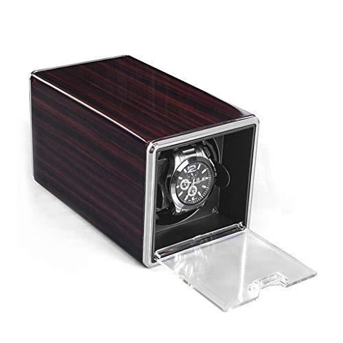 MZPWJD Cajas giratorias Automático Caja para Relojes,Watch Winder Display 4 Modos Operación para Varios Tipos De Relojes Marca (Color : Brown)