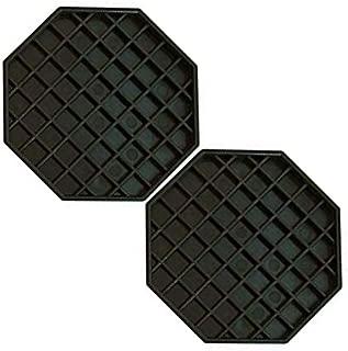 Update International DT-6X6 Octagonal Plastic Drip Tray, 6 by 6-Inch (7-Quart - 2 pcs)