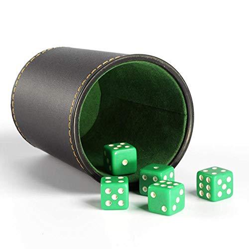 tulipde Würfelbecher, Lederwürfelbecher mit 5 Würfeln Für Tischspiele/Brettspiele/Indoor Entertainment