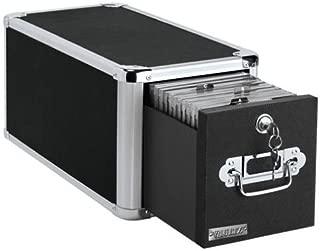 Vaultz Locking Single Drawer CD File Cabinet, 15 x 7.5 x 7.75 Inches, Black (VZ01173)
