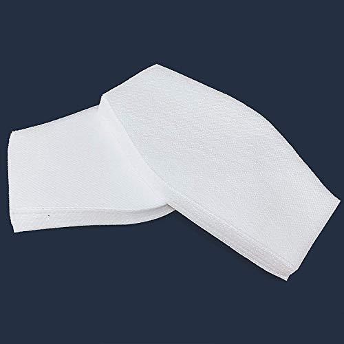 Pack 60 Filtros TNT homologado, Tamaño grande 18x10cm. Para mascarillas de tela, lavables y reutilizables.Tejido Hidrófugo, transpirable y antivirus de 70 Gr/m2. Hecho en España