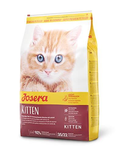 JOSERA Kitten (1 x 10 kg) | Katzenfutter für eine optimale Entwicklung | Super Premium Trockenfutter für wachsende Katzen | 1er Pack