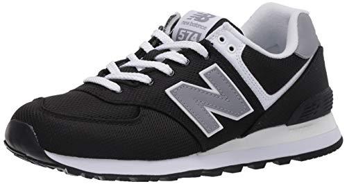New Balance Herren 574v2 Sneaker, Schwarz (Black/Yellow Sci), 42 EU