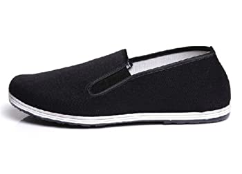 UNOW Chinese Traditional Cloth Kung Fu Shoes,Classic Soles,Black,45 |  US Men 10.5-11 | Women 12