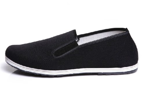 UNOW Chinese Traditional Cloth Kung Fu Shoes,Black,45 | (US:Men 10.5-11 | Women 12)