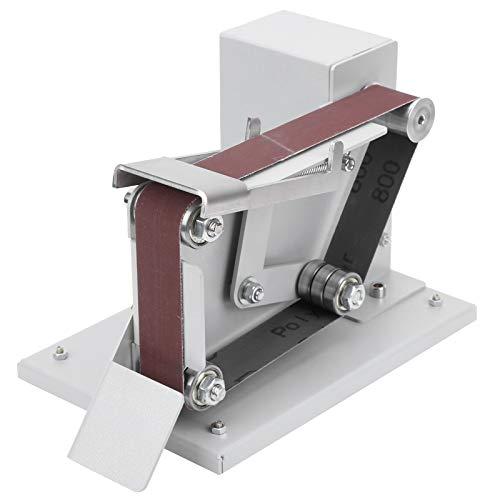 Pulidora de 4500 – 9000 RPM, minilijadora de banda, lijadora de bordes, pulidor/lijadora para trabajos de bricolaje para cuchillos de madera, 10 x cinturón + 5 x llave (UE 110 – 240 V)