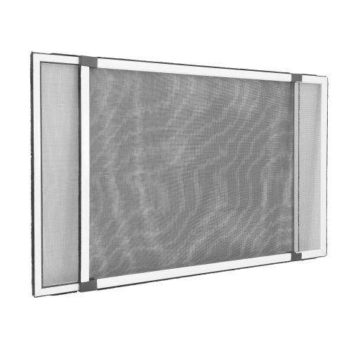 jarolift Insektenschutzrahmen Schiebfix Fliegengitter ohne Bohren für Fenster Türen mit Rollladen, Alurahmen, 75 x 50 cm (ausziehbar bis 142 cm), Weiß