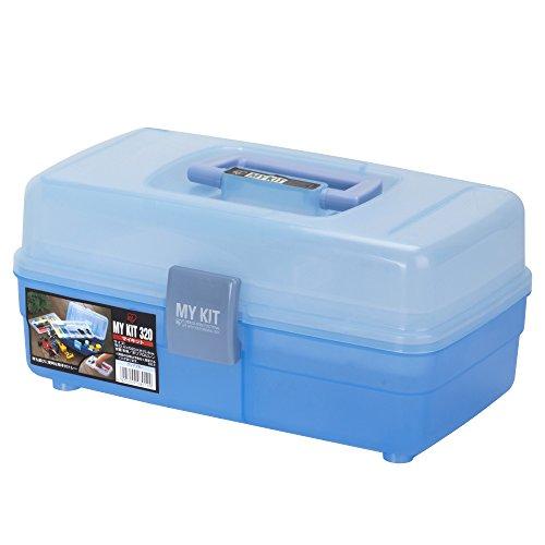 アイリスオーヤマ 工具箱 マイキット 320 クリアブルー【幅約32.4×奥行約20×高さ約15.4cm】