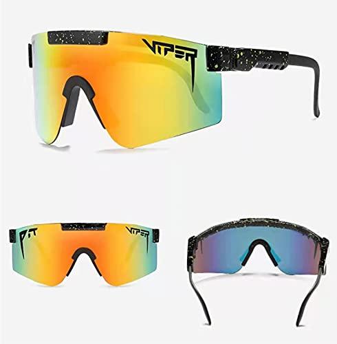 FOLENZU Sunglasses for Men and Women, Windproof Eyewear UV400, Sunglasses, Outdoor Cycling Glasses, UV400 Polarized, Polarized TR90 Frame Sunglasses, Color Electroplating Film
