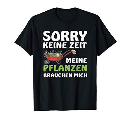 Herren T-Shirt lustig Geschenk für Hobbygärtner meine Pflanzen T-Shirt