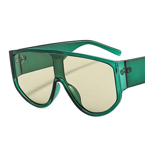 UKKD Gafas de sol Gafas De Sol De Gran Tamaño Cuadrado Gafas Para Hombres Mujeres Sombras De Moda Uv400 Vidrios Vintage