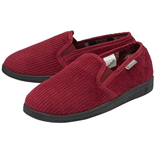Dunlop Zapatillas de estar por casa para hombre, cómodas, slip On Twin, fundición, suela de goma, lavables, tallas 41-46, color, talla 42 EU