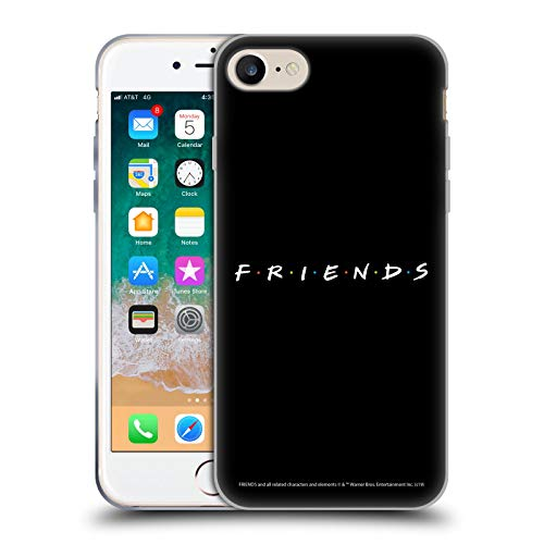 Head Case Designs Ufficiale Friends TV Show Nero Logos Cover in Morbido Gel Compatibile con Apple iPhone 7 / iPhone 8 / iPhone SE 2020