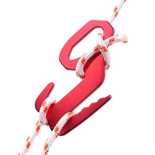 DIDA Tiendas de campaña Accesorios 2 PCS 9 en forma de gancho de equipaje liado hebilla de la caída del gancho de la cuerda de la hebilla de la tienda del pabellón del viento cuerda hebilla de color a