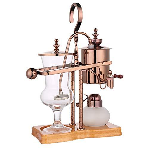 HYKJ Belgische Kaffeekanne Siphon Kaffeekanne Alkohol Lampe königliche belgische Topf Brauen Kaffeekanne, um eine Bohnenmaschine zu senden