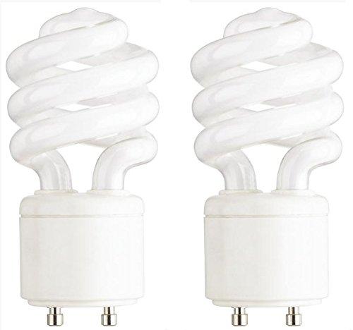 Ciata Lighting 13-Watt Mini Compact Fluorescent Light Bulb GU24 Base Twist and Lock, Warm White - 2 Pack