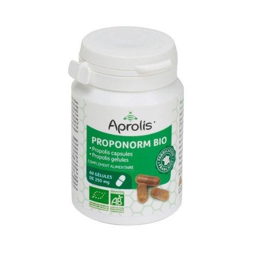 Gélules Bio 100% Propolis 'Proponorm' - Renforce les défenses naturelles - 60 gélules