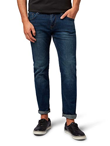TOM TAILOR Denim Herren Piers Jeans, Blau (Dark Stone Wash Deni 10282), 36W / 32L