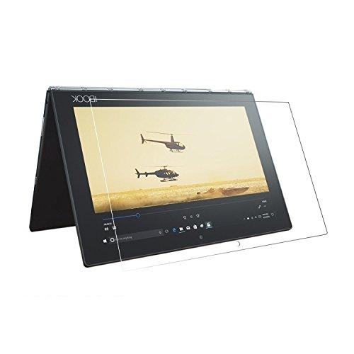 [2 paquetes] Lenovo Yoga Book 10.1 Protector de pantalla, dureza 9H, ultrafino, irrompible, antiarañazos, HD transparente, vidrio templado para Lenovo Yoga Book [YB-X91F]