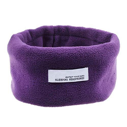 Elegante y silencioso casco para dormir con máscara de ojos transpirable de terciopelo plástico de 3,5 mm Sombreado 100% púrpura