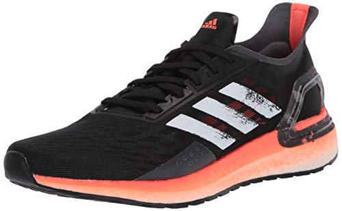 adidas Women's Ultraboost Personal Best Running Shoe, Black/White/Signal Coral, 8.5 M US