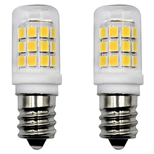 Bombilla LED E14, 2,5 W, para campana extractora, luz blanca fría, 6500 K, repuesto de 25 W, bombilla halógena de 230 V CA, no regulable, para frigorífico, máquina de coser, paquete de 2 unidades