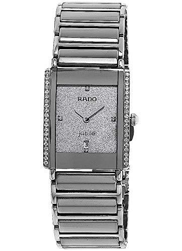 Rado Damen-Armbanduhr Integral Jubilé mit Diamanten Datum Analog Quarz R20429722