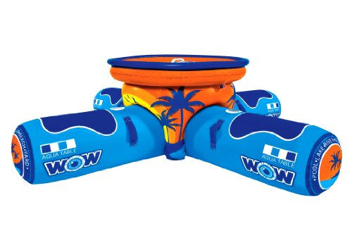 WOW World of Watersports, 12-2000 Aqua Table, Inflatable Floating Picnic Table, 2 to 4 Person