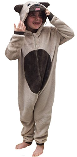 Pijama de una pieza, para niños y niñas, de forro polar, suave