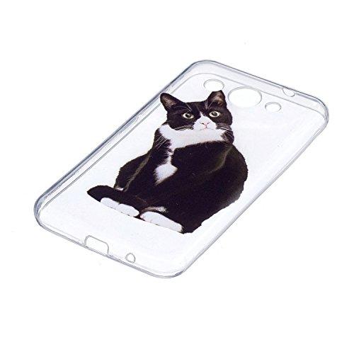 Huawei Y3 2017 Handy Hülle, Docrax Handyhülle Silikon Durchsichtig mit Muster Stoßfest Kratzfest Schutzhülle Bumper Case für Huawei Y3 (2017) - DOHEX42142 #5 - 2