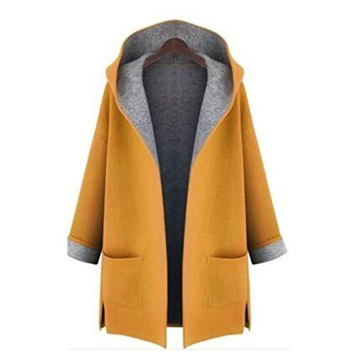 NA vrouwen herfst-winter-dunne mantel losse wol mix short windjas lange mouwen rood geel overcoat