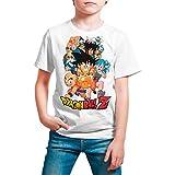 Camiseta Niño Manga y Anime - Dragon Ball, Bola de Dragón (Blanco, 9 años)