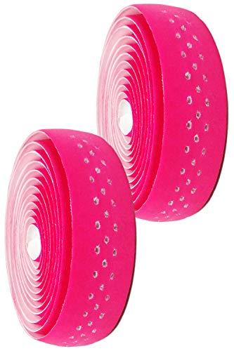 morytrade バーテープ ロードバイク グリップテープ クロスバイク グリップ 穴あき バーエンド (ピンク)