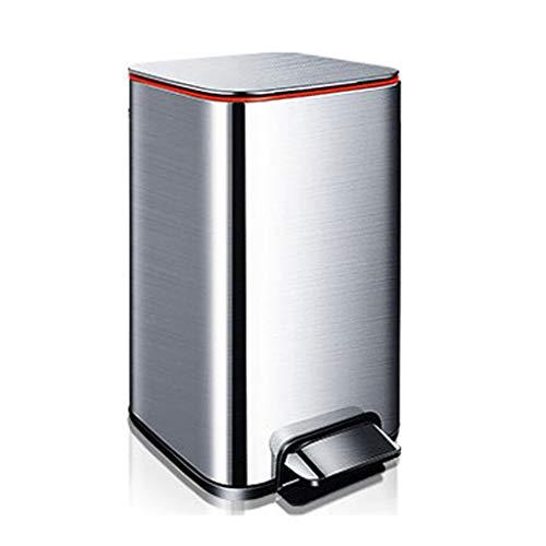 LMJ Bote de Basura Acero Inoxidable Inducción Bote de Basura con Tapa del hogar Grande de Estar Cocina Desodorante del tocador Bote de Basura Papeleras (Color : 9l)