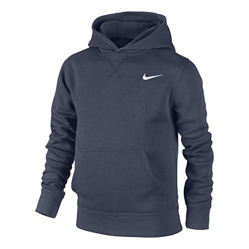 Nike Jungen Kapuzenpullover Brushed Fleece, obsidian/white, M, 619080-451